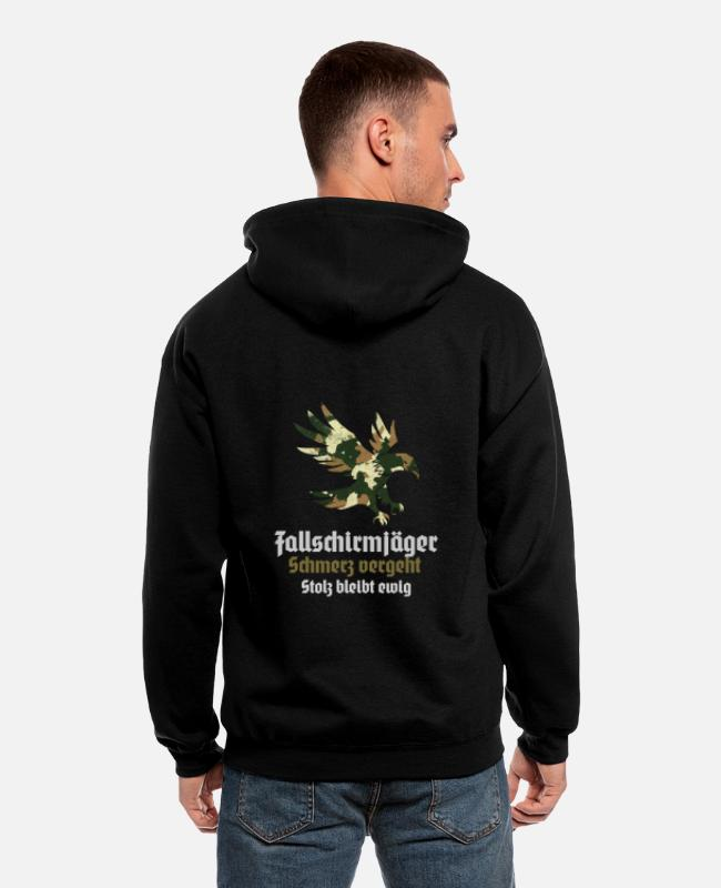 Soldiers Hoodies & Sweatshirts - paratroopers jumper course Ehren TShirt - Men's Zip Hoodie black