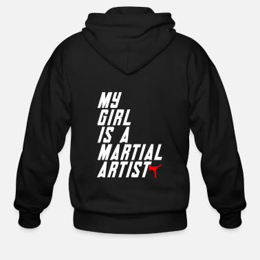 Martial Artist My girl is a martial artist - Men's Zip Hoodie