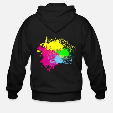 Splatter Colors Paint Splatter - Graffiti Graphic Design - - Men's Zip Hoodie