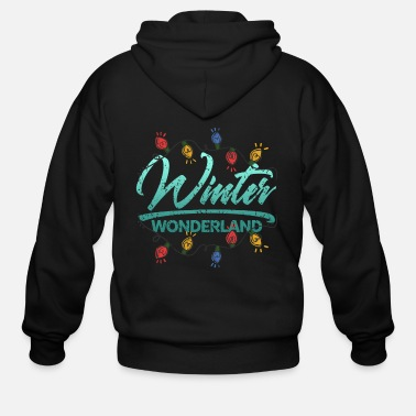 Christ Jesus Winter wonderland gift kids - Men's Zip Hoodie