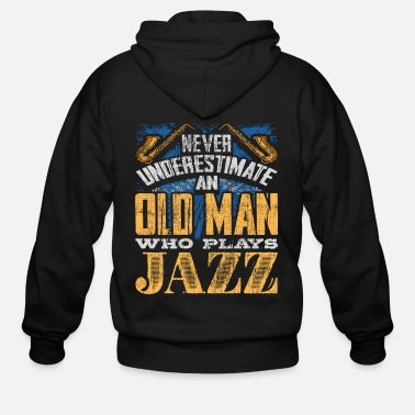 Heavy Metal Old man Jazz - Men's Zip Hoodie