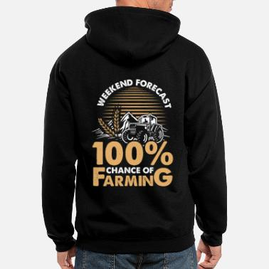 Dairy Farm Farming weekend forecast - Men's Zip Hoodie