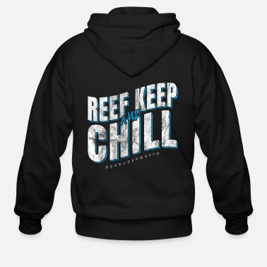 Gold Aquarium Chill Reef - Men's Zip Hoodie