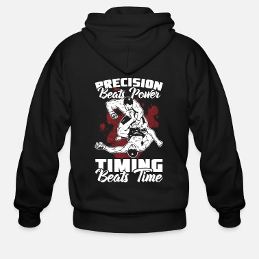 Down Wrestling fighter gift - Men's Zip Hoodie