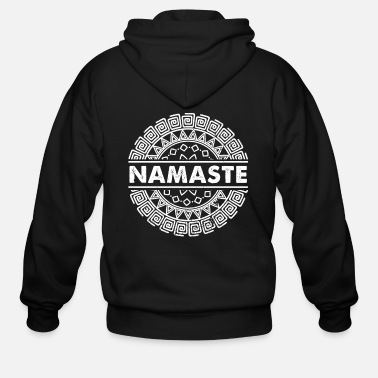 Healthy Yoga namaste gift - Men's Zip Hoodie