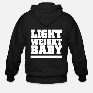 Funny Gym Light Weight Baby Gym Motivation - Men's Zip Hoodie