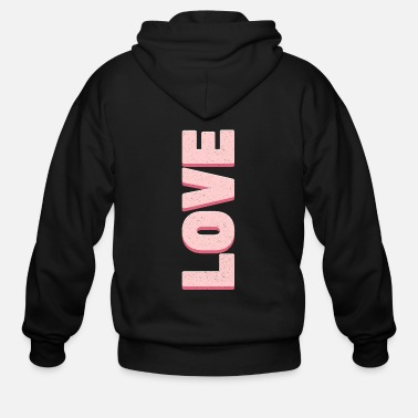 Lovely Love Pink - Men's Zip Hoodie