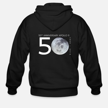 Moon Apollo 11 50 Years Anniversary Moon Landing - Men's Zip Hoodie