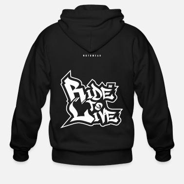 Stunt Ride to Live - Men's Zip Hoodie