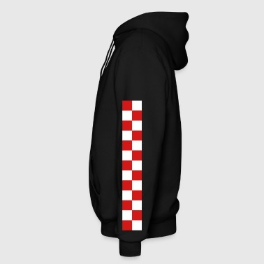 croatia sahovnica arm stripe - Men's Zip Hoodie
