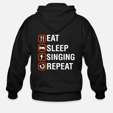 Chant Funny Singing Anniversary Present - Men's Zip Hoodie