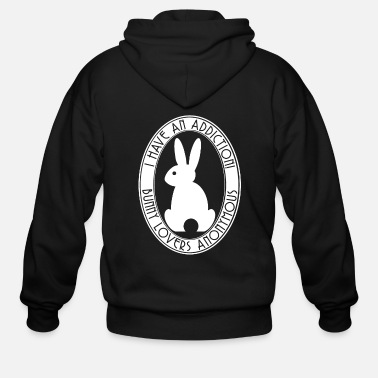Anonymous I have an Addiction! Bunny Lovers Anonymous White - Men's Zip Hoodie