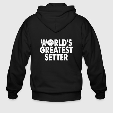 World's Greatest Setter, Volleyball Gift - Men's Zip Hoodie