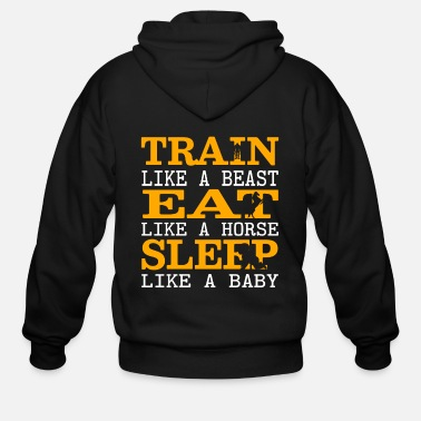 Motto Gym Motto - Men's Zip Hoodie