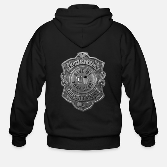 Alcohol Hoodies & Sweatshirts - Give Me Your Beer #2 - Men's Zip Hoodie black