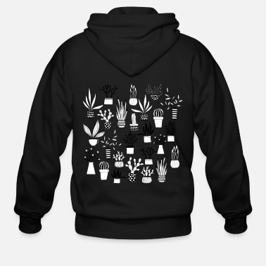 Cactus Cactus, Cacti and Succulents - Men's Zip Hoodie