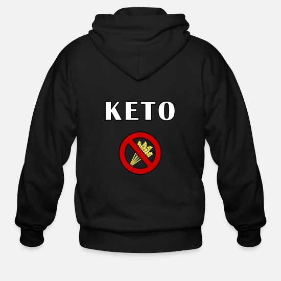 Birthday Hoodies & Sweatshirts - keto - Men's Zip Hoodie black