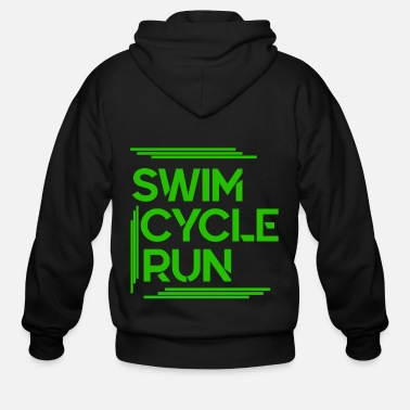 Running Swim cycle run | Triathlon - Men's Zip Hoodie