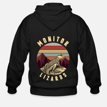 Monitoring Monitor Lizard - Men's Zip Hoodie