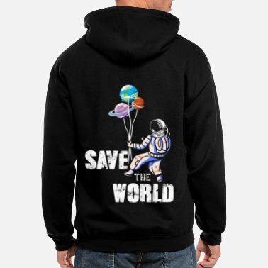 Astro Save the World Astronaut - Men's Zip Hoodie