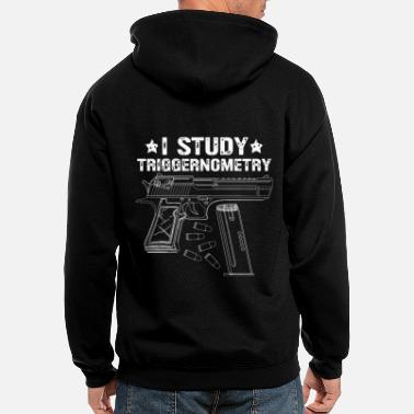 Saying Ammo Gun Lover Saying - Gun Owner - I Study - Men's Zip Hoodie