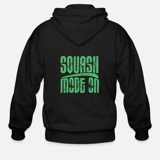 Squash Hoodies & Sweatshirts - Squash Squash Racket Squash Player Team Squashing - Men's Zip Hoodie black