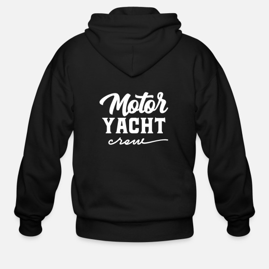 Motorboat Hoodies & Sweatshirts - Crew Ship Yachting Motor Yacht Motorboat Yacht - Men's Zip Hoodie black
