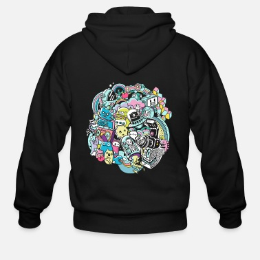 Graffiti Graffiti city - Men's Zip Hoodie
