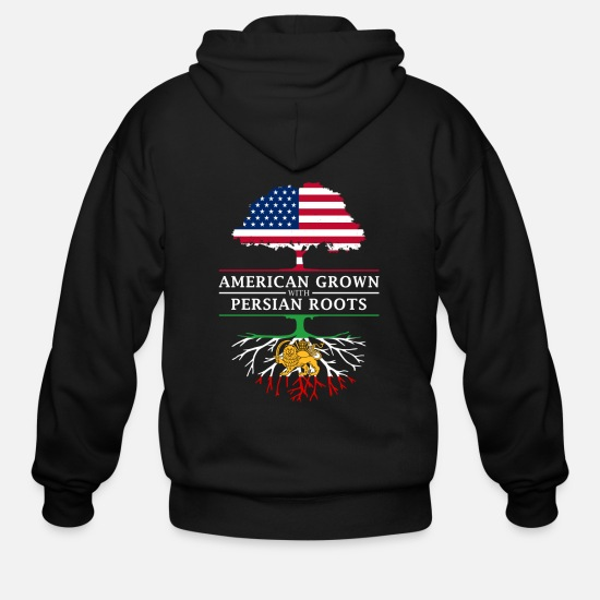 Persia Hoodies & Sweatshirts - American Grown with Persian Roots Persia Design - Men's Zip Hoodie black