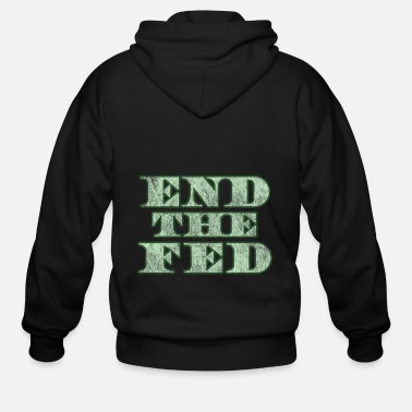 End End The Fed Vintage - Men's Zip Hoodie