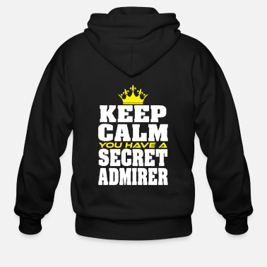 Moustache Cute & lovely Admirer Tee Design You have a secret admirer - Men's Zip Hoodie