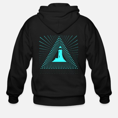 North Sea lighthouse beacon North Sea - Men's Zip Hoodie