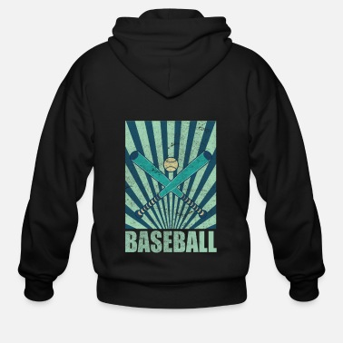 Softball Catcher Batter Base Gift Baseball - Men's Zip Hoodie