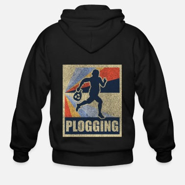 Sweden Trend sports Plogger Plogging Gift - Men's Zip Hoodie