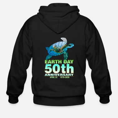 Day Earth Day 2020 50th Anniversary Parade Shirt - Men's Zip Hoodie
