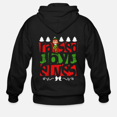 Santa Claus Elf Christmas Santa Claus Gift - Men's Zip Hoodie
