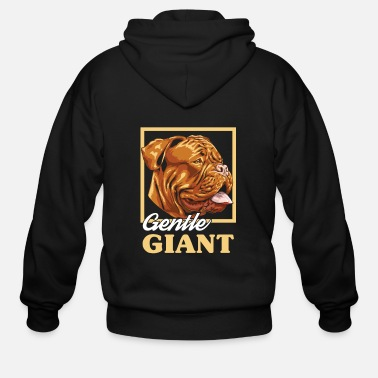 Gentle French Mastiff | Gentle Giant - Men's Zip Hoodie