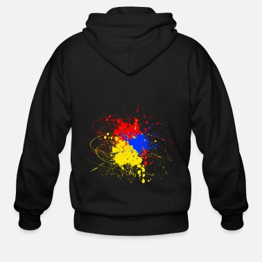 Blue Red Yellow Color blob yellow blue red - Men's Zip Hoodie
