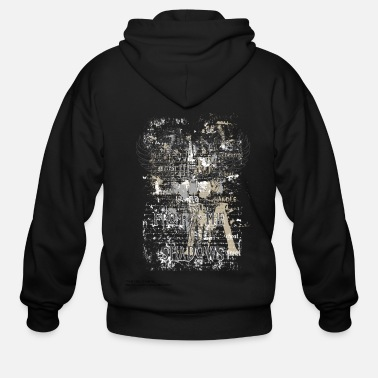 Shield From The Shadows Vintage Crest - Men's Zip Hoodie