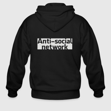 Anti social network - Men's Zip Hoodie
