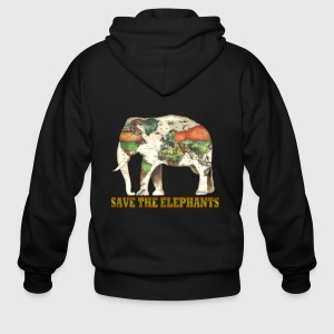 Save the elephants world map by nurmalasiti866 spreadshirt mens zip hoodie gumiabroncs Images