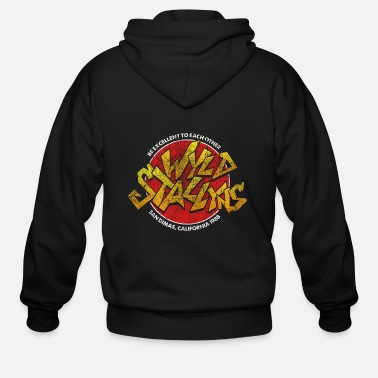 Bill Ted Wild Stallyns Band Patch - Men's Zip Hoodie