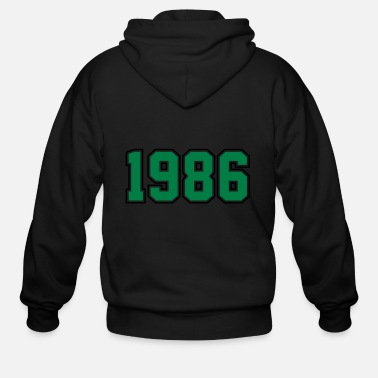 Year Of Birth 1986 | Year of Birth | Birth Year | Birthday - Men's Zip Hoodie