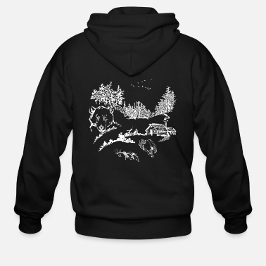 Wildlife Nature Wildlife - Men's Zip Hoodie