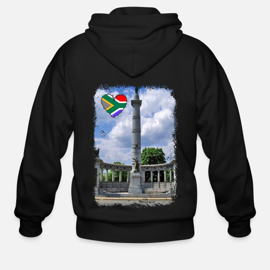 Girl Hoodies & Sweatshirts - South African Lover Tshirt - Men's Zip Hoodie black