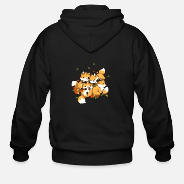 Fox Playful Foxes - Men's Zip Hoodie