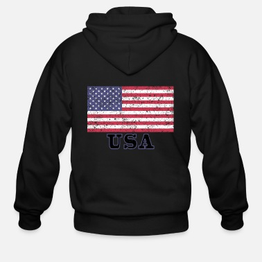 Usa USA Flag - Men's Zip Hoodie