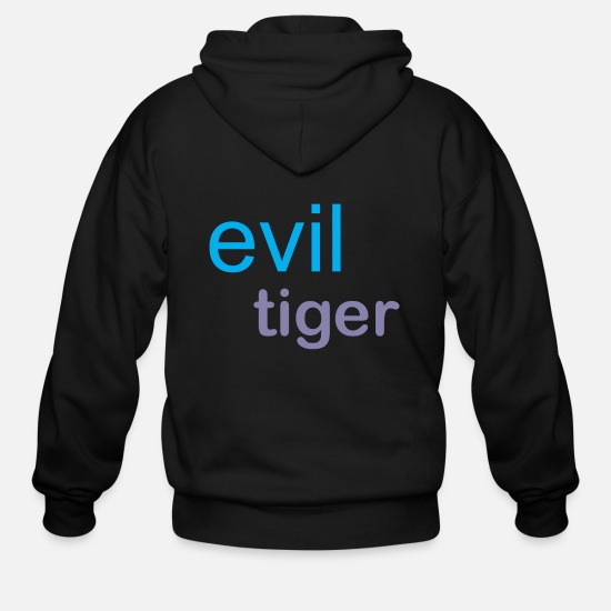 Marine Animal Hoodies & Sweatshirts - evil tiger - Men's Zip Hoodie black