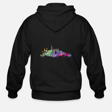 Montpellier Montpellier skyline - Men's Zip Hoodie