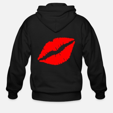 Kissing Lips Kissing lips - Men's Zip Hoodie